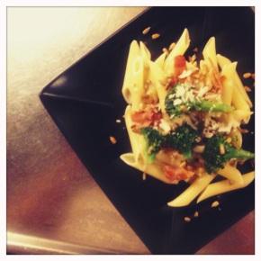 Creamy pasta with Broccoli and Lemon Zest