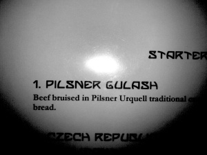Beef bruised in Pilsner. Not quite like being massaged in beer now is it?