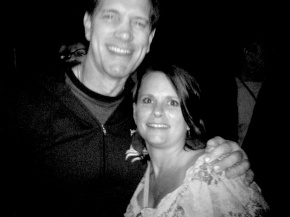 Like a deer in head lights. Holy crap batman I've got Chris Isaak in my arms!