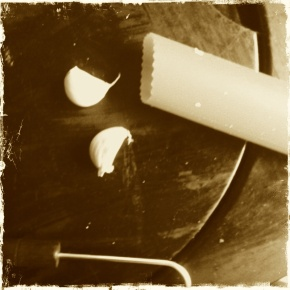 If you don't have a garlic peeler get one. They cost nothing and very useful. If only they had them for onions.