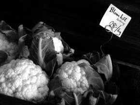Prettiest cauliflower I have seen in a minute. Soon to be turned into cauliflower mash instead of potatoes.